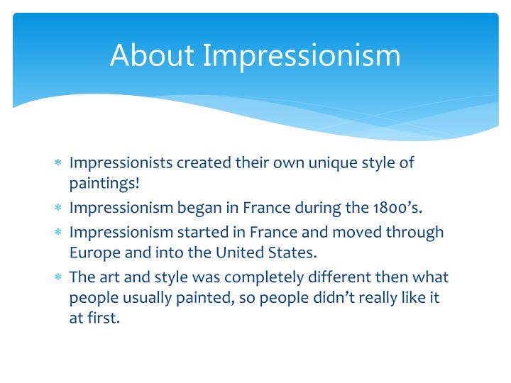 About impressionism