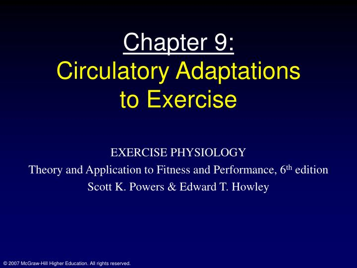 chapter 9 circulatory adaptations to exercise n.