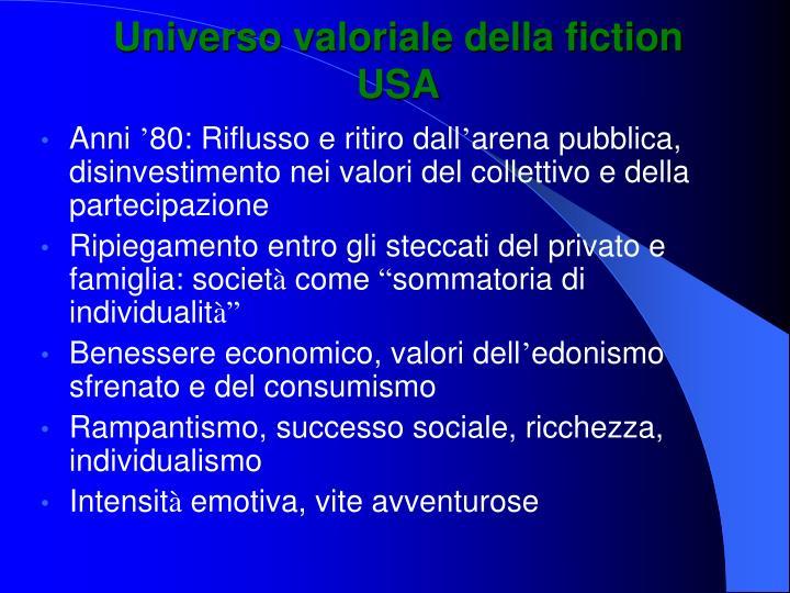 Universo valoriale della fiction USA