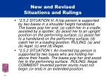 new and revised situations and rulings10