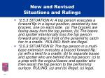 new and revised situations and rulings11