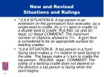 new and revised situations and rulings17