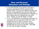 new and revised situations and rulings18