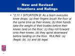 new and revised situations and rulings19