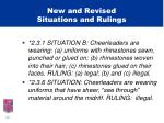 new and revised situations and rulings2