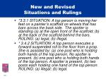 new and revised situations and rulings22