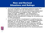 new and revised situations and rulings3