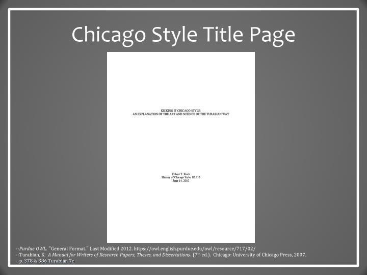 Chicago style, header