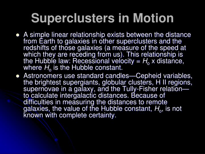 Superclusters in Motion