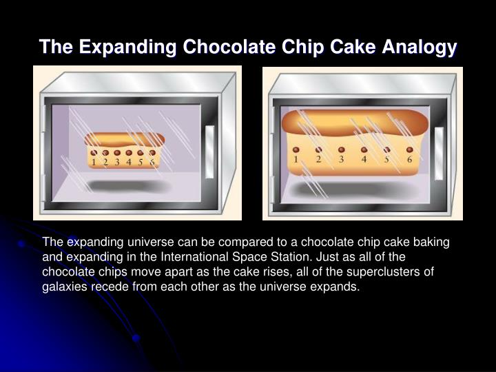 The Expanding Chocolate Chip Cake Analogy