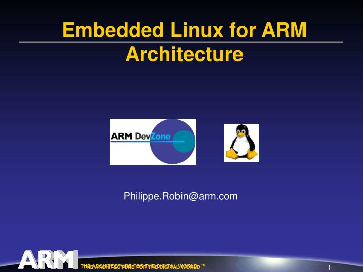 embedded linux for arm architecture n.
