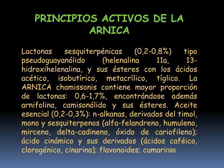 PRINCIPIOS ACTIVOS DE LA ARNICA