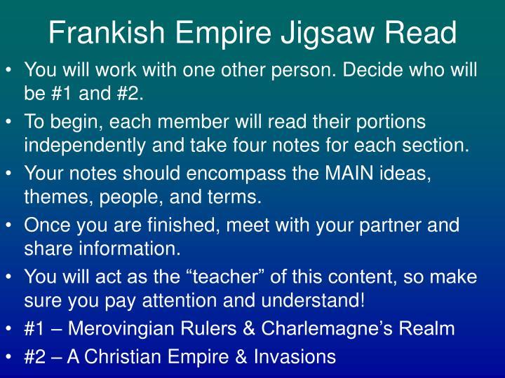 Frankish Empire Jigsaw Read