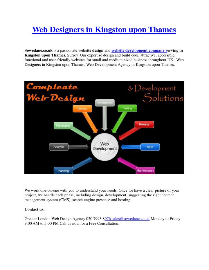 Web designers in kingston upon thames