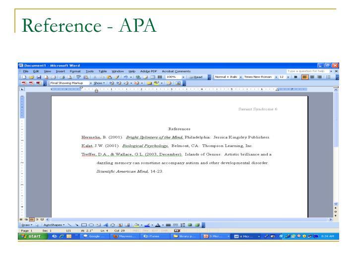 Reference - APA