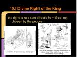 10 divine right of the king