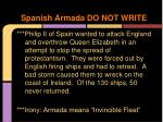 spanish armada do not write