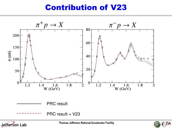 Contribution of V23