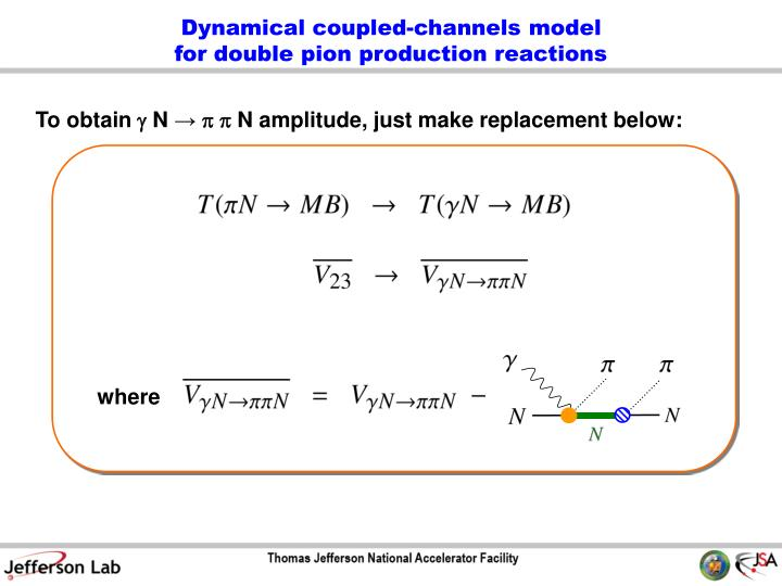 Dynamical coupled-channels model