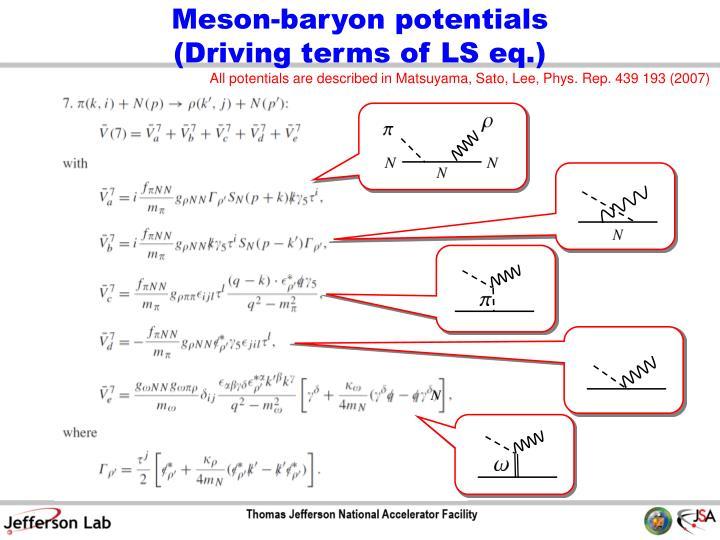 Meson-baryon potentials