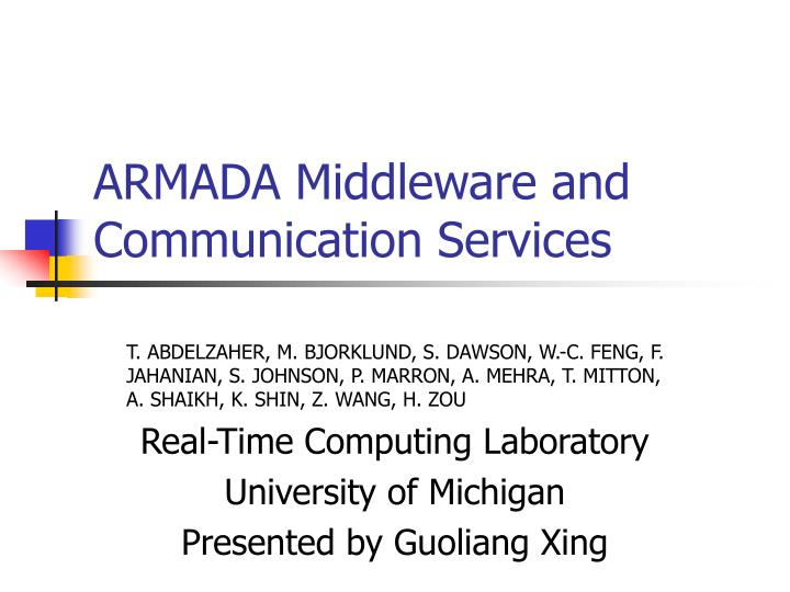 armada middleware and communication services n.