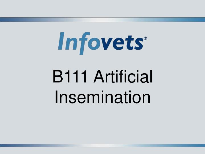 b111 artificial insemination n.