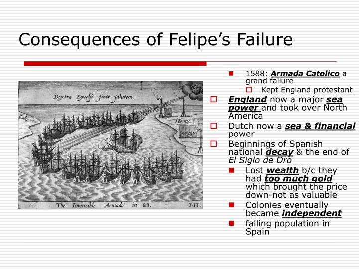Consequences of Felipe's Failure