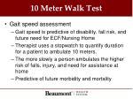 10 meter walk test