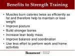 benefits to strength training