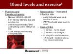 blood levels and exercise 6