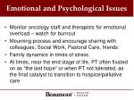 emotional and psychological issues
