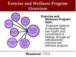 exercise and wellness program overview