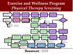 exercise and wellness program physical therapy screening1