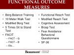 functional outcome measures
