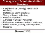 management administrative structure