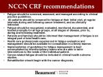 nccn crf recommendations