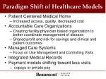 paradigm shift of healthcare models