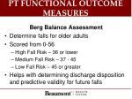 pt functional outcome measures1