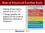 rate of perceived exertion scale
