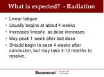what is expected radiation