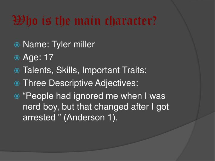 Who is the main character