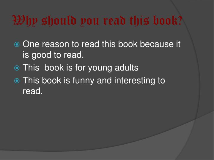 Why should you read this book?