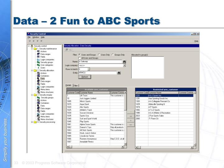 Data – 2 Fun to ABC Sports