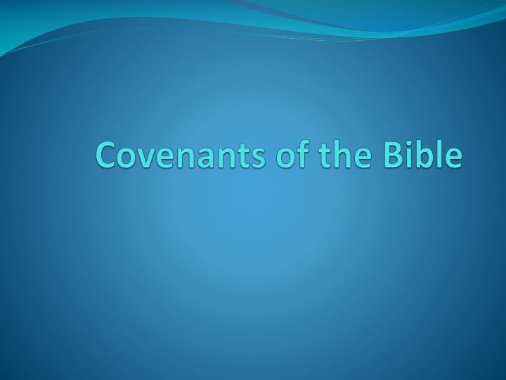 covenants of the bible n.
