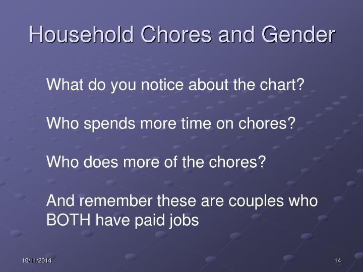 Household Chores and Gender