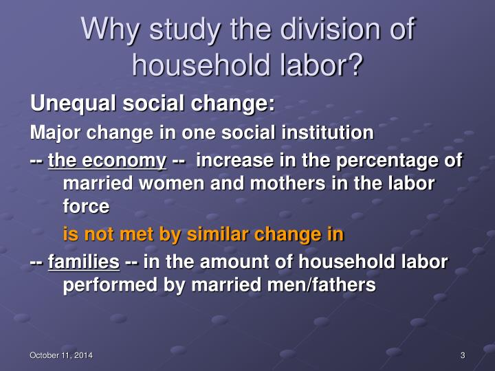 Why study the division of household labor1