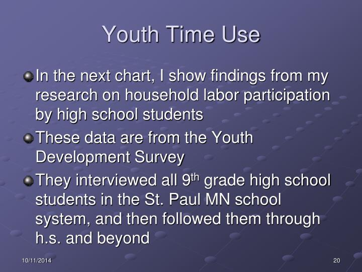 Youth Time Use