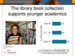 the library book collection supports younger academics