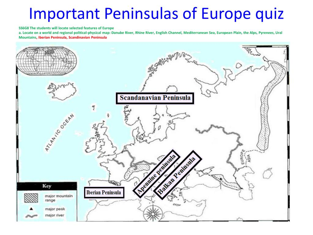 PPT - Physical Map of Europe PowerPoint Presentation - ID ...