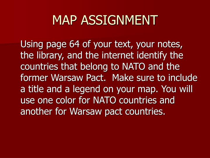 MAP ASSIGNMENT